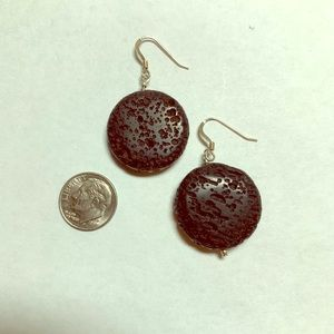 Jewelry - Round lava (not Hawaiian lava) earrings